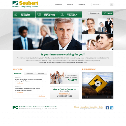 Seubert web design