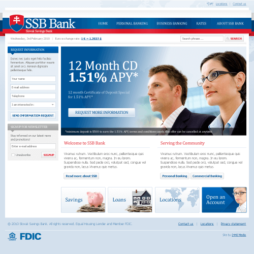 Slovak Saving Bank - Pittsburgh Web Design